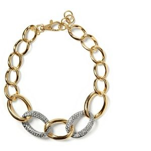 Banana Republic Gilded Link Statement Necklace